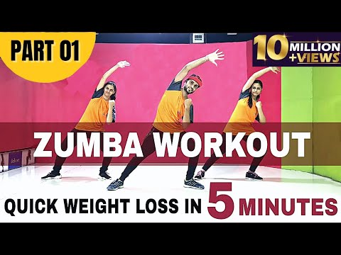 Basic Zumba Steps for Quick Weight Loss | Easy Cardio Workout For Beginners | Fitness in 5 minutes