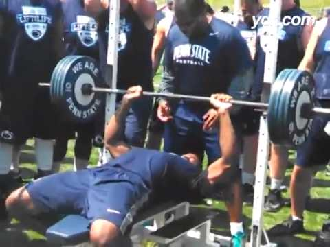 Deion Barnes Bench Press reps @ 225 video.