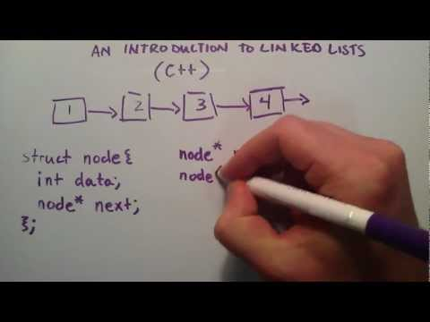 lists - This tutorial provides clear visual representation of what is happening as a linked list is coded. Donate http://bit.ly/17vCDFx.