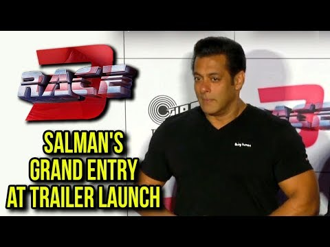 Race 3 Trailer Launch : Salman Khan GRAND ENTRY |