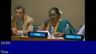 "Nalini Singh's official speaker at the ""Session on Review of SDG 5"": UN Web TV - http://webtv.un.org"