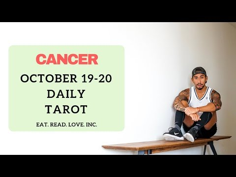 """CANCER SOULMATE """"CLOSE TO YOU"""" OCT 19-20 DAILY TAROT READING"""