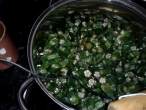 How To Make Okra Soup - (Gambian dish - 'Supa'Kanja' )