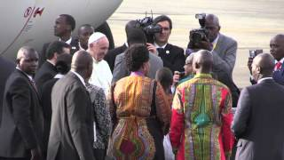 Pope lands in Kenya, begins landmark Africa trip