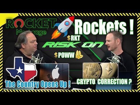 """Risk On"" Ep. 21 Todd and Jason - $RKT ROCKET 🚀  Rockets! The Country Opens UP!  Crypto Correction?"