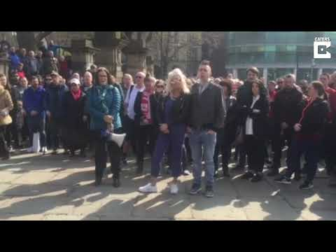 Emotional Hillsborough Tributes In Liverpool