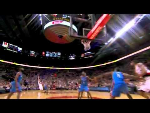 Nicolas Batum putback dunk against Thunder