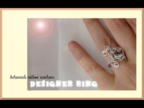 schmuck selber machen designer ring aus aluminiumdraht selber machen anleitungen. Black Bedroom Furniture Sets. Home Design Ideas