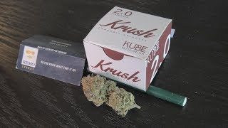 Wedding Cake Joint with the Krush 2.0 Grinder by Urban Grower