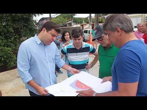Prefeito em exercício vistoria barreira reconstruída no Murilópolis
