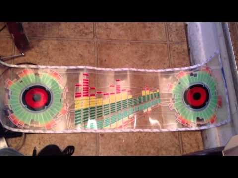 Cm-580 EL equalizer car sound Activated – Video 1: lights on