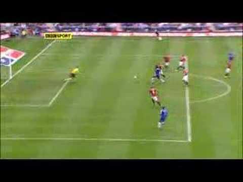 drogba goal finale fa cup 2007 contro manchester united