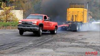 10. Semi vs Dually Tug O War Daisy Dukes Truck Show