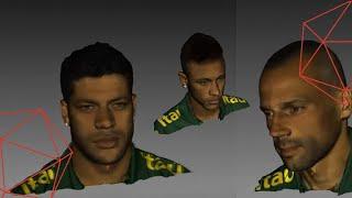 סריקת קבוצת כדורגל ברזיל בסורק EVA