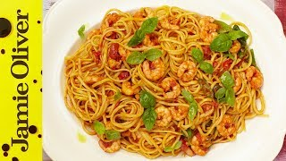 Sicilian Prawn Linguine | Jamie's 15 Minute Meals (2012) by Jamie Oliver