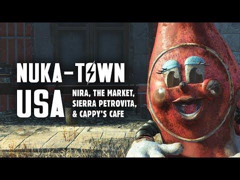 Nuka World Part 2: Nuka-Town USA - NIRA, the Market, Sierra Petrovita, & Cappy's Cafe (видео)