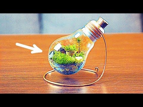 感覺超難製作的「燈泡盆栽」其實簡單易做到想哭,連手殘的人都做到幾乎可以拿去賣了!