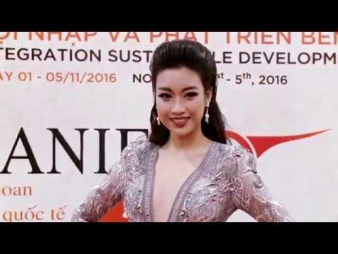 Hoa hậu Mỹ Linh, Á hậu Thanh Tú diện đồ đôi, môi trầm cá tính trên thảm đỏ