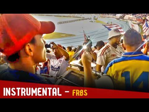 Entrada del Frente e Instrumental - Junior 2-2 Pasto | 20 Febrero 2016 - Frente Rojiblanco Sur - Junior de Barranquilla