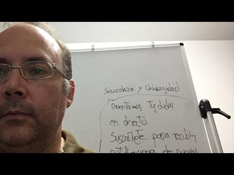 Profe no, shurprofe, doy clases en directo en Youtube, beau, selectividad y preescolar