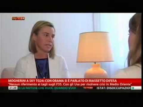 Intervista Ministro Mogherini; Ucraina, rapporti con USA, F35