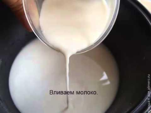 Манная каша в мультиварке на молоке рецепт с пошагово