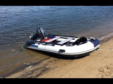 видео лодка с мотором 5 л.с видео тест драйв
