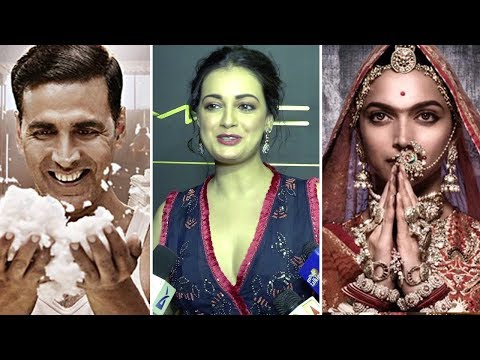 Dia Mirza Chooses Between Padmavati And Padman