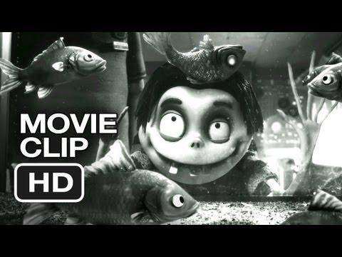 Frankenweenie Movie CLIP - Dead Fish (2012) - Tim Burton Animated Movie HD