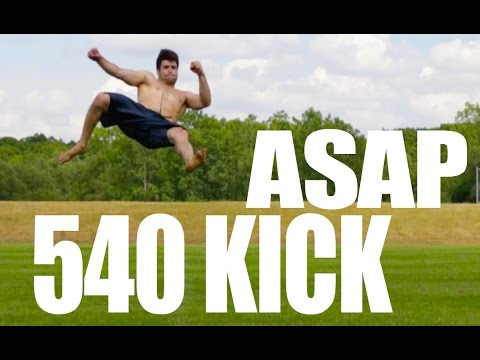 How to 540 Kick In Only 5 Minutes | Learn Fast (видео)