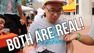 TROLLING SNEAKERHEADS (REAL VS FAKE PRANK)