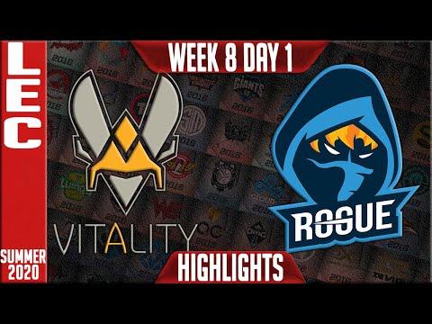 VIT vs RGE Highlights | LEC Summer 2020 W8D1 | Team Vitality vs Rogue