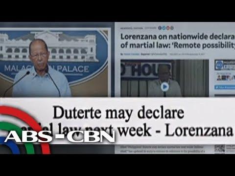Bandila: Bandila, Tagalog News, martial law, Rodrigo Duterte, Delfin Lorenzana, Bettina Magsaysay