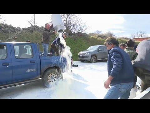 Σαρδηνία: Παραγωγοί διαδηλώνουν και χύνουν γάλα στους δρόμους…