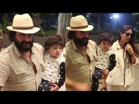 CUTE Taimur Ali Khan Spotted At Mumbai Airport Wit