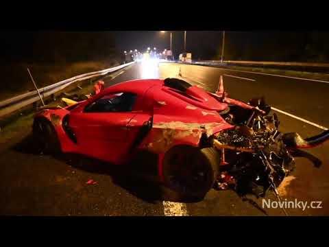 Суперавтомобилът SIN R1на Росен Даскалов се разби в Чехия