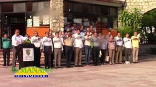 Honores en la plaza de Cd  Valles por aniversario Luctuoso de Benito Juárez