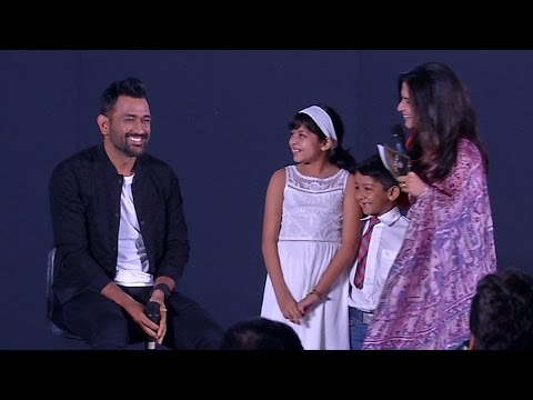 Dhonis-cool-answer-for-the-naughty-question-from-Suriyas-daughter-Diya