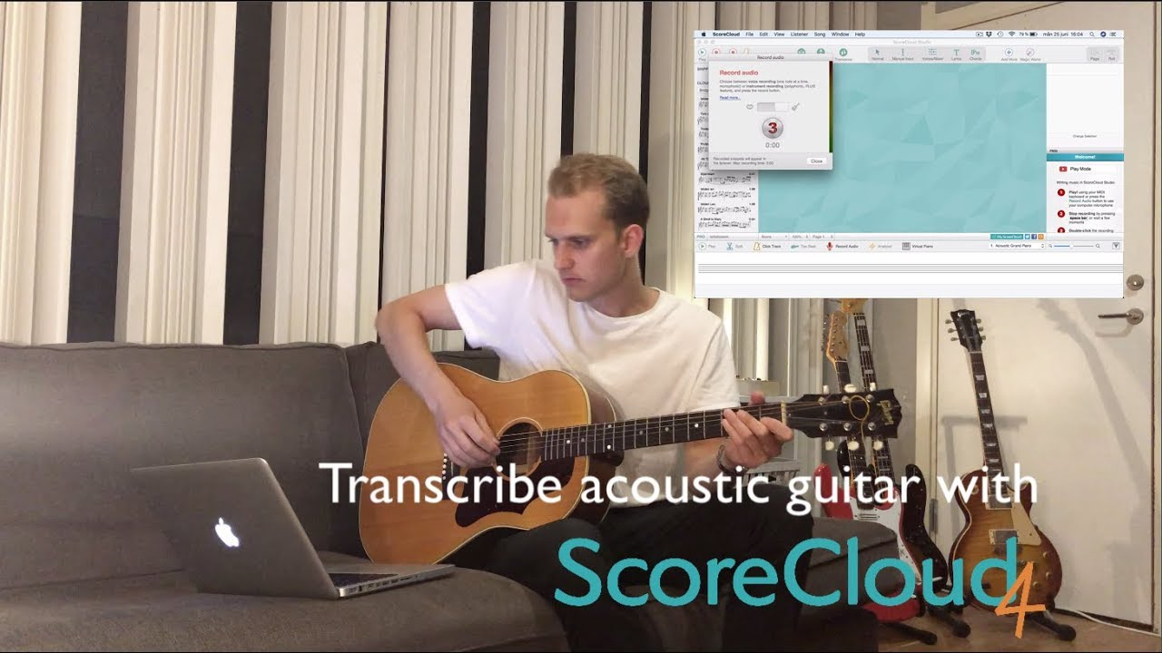 Transcribe Acoustic Guitar with ScoreCloud 4
