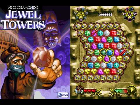 Nick Diamond's Jewel Towers – Mobile Phone Game by TrantorGames
