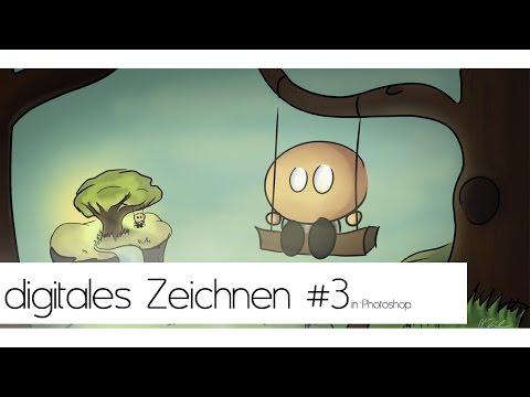 digitales Zeichnen lernen in Photoshop #3 Colorieren | deutsch