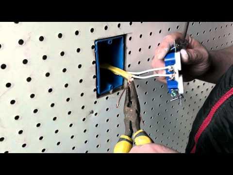 Como instalar un toma corriente