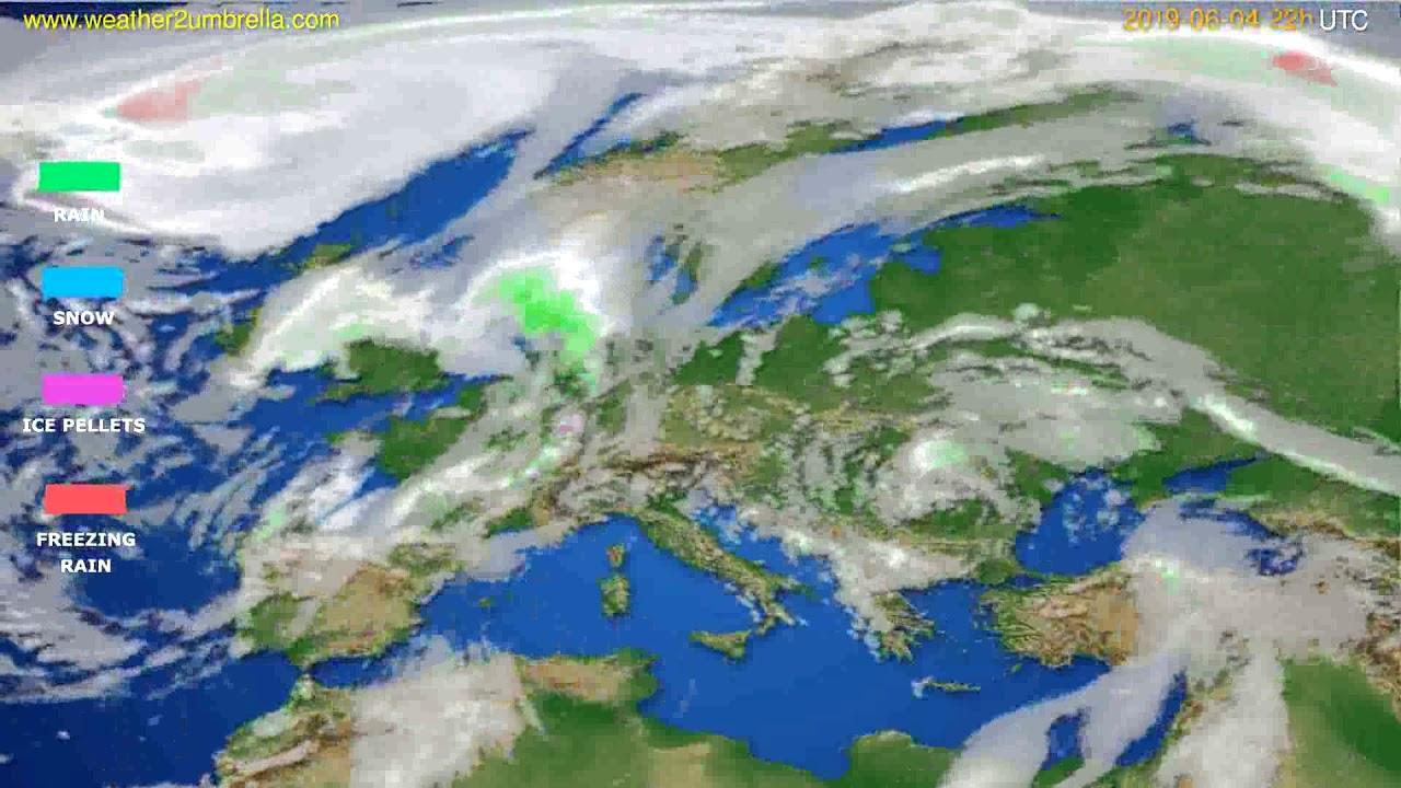 Precipitation forecast Europe // modelrun: 00h UTC 2019-06-02