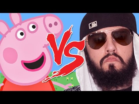 Peppa Pig vs Mussoumano | Batalha Cartoon (видео)