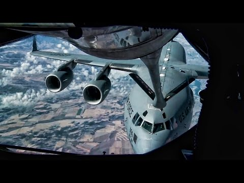 An aerial refueling mission between...