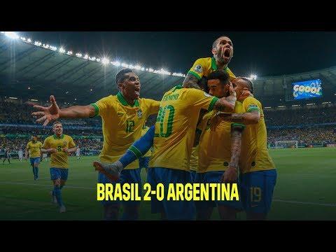 Brasil vs Argentina 2-0 | Resumen y goles | Highlights Copa América 2019