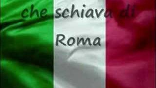 video of the national anthem of Italy with lyrics.