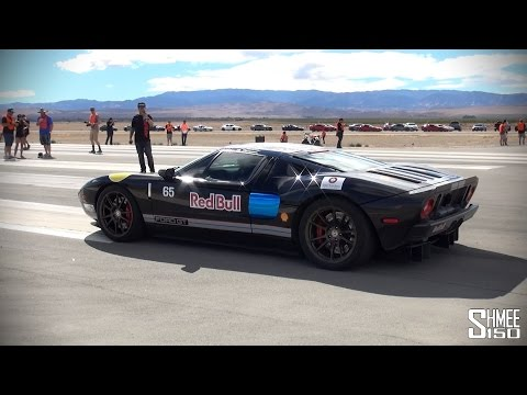 drag - You can pretty much hear the power of this 2000hp twin turbo'd Ford GT taking part in Shift S3ctor Airstrip Attack 7. With a number of burnouts in the area designated for tyre warming before...
