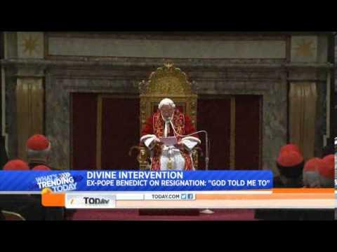 Pope Emeritus Benedict XVI  'God told me to' resign