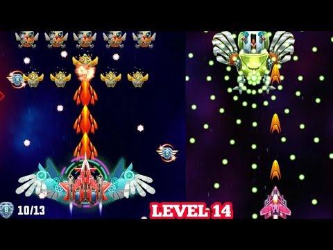Strike Galaxy Attack: Alien Space Chicken Shooter Gameplay Level 14